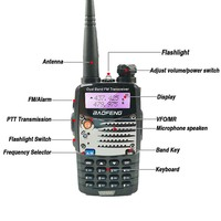 baofeng uv5r 2pcs Baofeng UV-5RA Ham Radio Dual Band 136-174 & 400-520MHz Baofeng UV5R UV5R סדרה מכשיר הקשר CB רדיו משדר Telsiz (2)