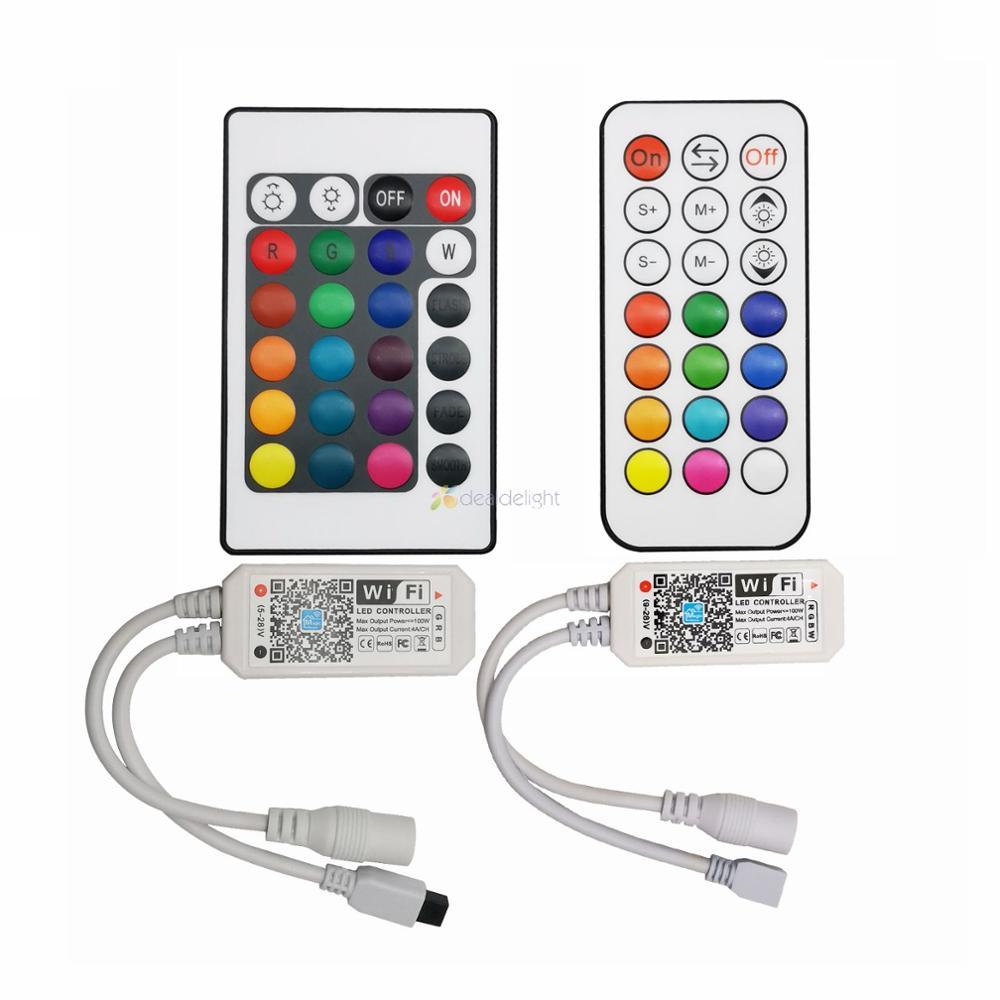 LED de contrôle magique de WiFi de Bluetooth à la maison IR RF 5V 12V 24V pour la bande simple de LED de la couleur rvb RGBW RGBCCT de WS2812B SK6812