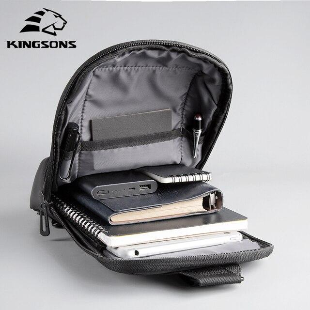 Kingsons Anti-theft Crossbody Bags Male Waterproof Chest Pack Short Trip Messenger Sling Bag Shoulder Chest Bag 6
