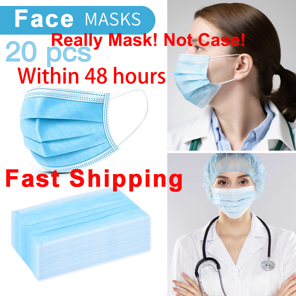 20PCS DROPSHIPPING KN95 Disposable Anti Dust Mask Mouth Face Mask Within 48 Hours Fast Shipping In Stock Real Mask