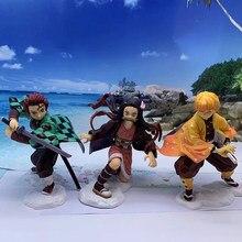 Nowy 18 cm Kimetsu nie Yaiba Nezuko Tanjirou rysunek Zenitsu pcv figurka Anime Demon Slayer zabawki figurkowe