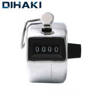 Mechanical Manual Counter Number of People Counter 4 Digit Number Manual Counting Clicker Timer Soccer Golf Counter