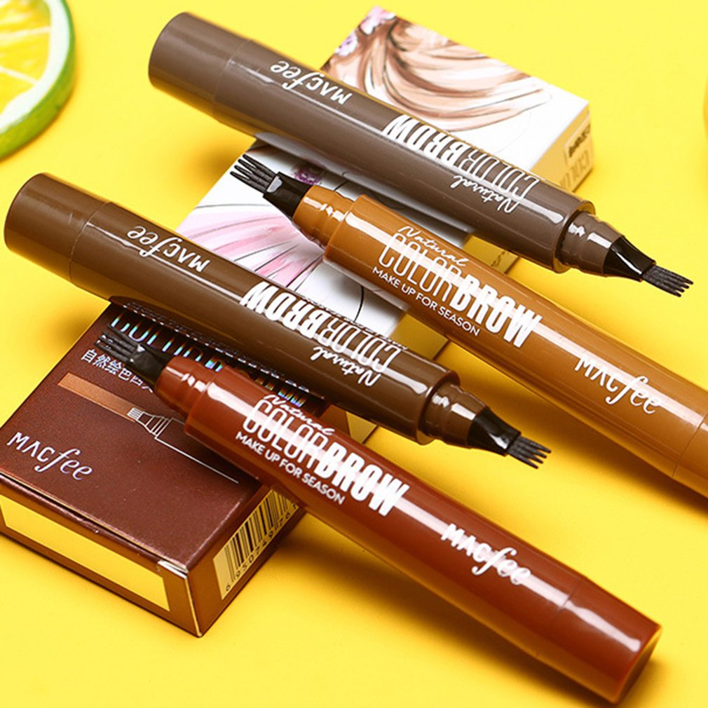 For Macfee Four Fork Long-Lasting Water Eyebrow Pencil Four Eyebrow Pencil Liquid Eyebrow Pencil Waterproof And Sweat