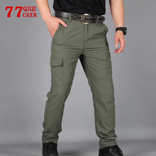Loose Trousers Cargo-Pants Military Tactical Thin-Pockets Outdoor Male Waterproof Men Summer
