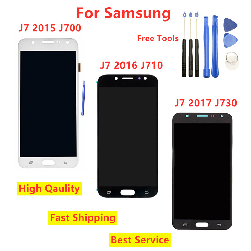 Can Adjust Brightness For J730 Lcd For <font><b>Samsung</b></font> <font><b>Galaxy</b></font> <font><b>J7</b></font> 2015 J710 2016 <font><b>J7</b></font> pro <font><b>2017</b></font> J730 <font><b>Display</b></font> Touch Screen Digitizer Assembly image