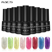 KADS 7ml Neon Nail Gel Polish Rainbow Nail Glue Soak Off Top Base Coat Gel Lacquer UV LED Nail Art Gel Nail Polish Varnish(China)