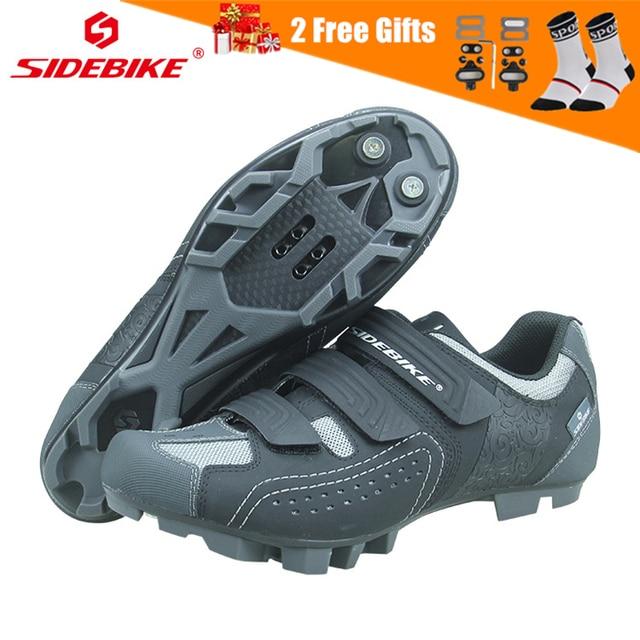 SIDEBIKE Men Women Mountain Bike Shoes Professional Lock Cycling Shoes Reflective Non slip Wear resistant Bicycle MTB Sneaker