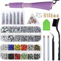 EU/US Hotfix Rhinestones Applicator Iron-on Wand Heat-fix Tool Gun/1000Pcs-8800Pcs/Box Hotfix Rhinestones Crystal Rhinestone DIY