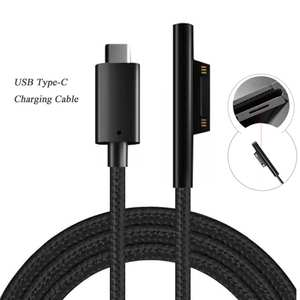Besegad Cord Cable Charging-Adapter Microsoft Type-C Surface-Pro USB Home 15V for 6-5/4/3-tablet