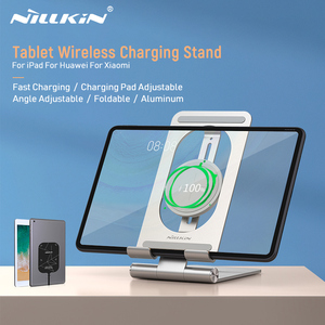 For iPad Wireless Charger, Nillkin Tablet Wireless Charging Pad Aluminum 15W Qi Wireless Charger for Huawei MatePad Pro For iPad(China)