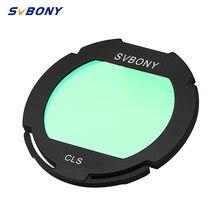 Svbony filtro cls clip-on eos clipe de câmera de banda larga para câmera ccd com telescópio e dsl astrofotografia monocular f9155d