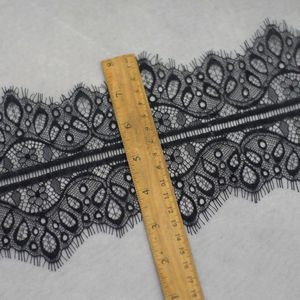 6 м/лот качество Черный Белый изысканное кружево с ресничками ширина 14 см ручной работы DIY, аксессуары для одежды, платье занавес материал