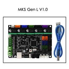 Tablero de control Integrado MKS Gen L V1.0, rampas Reprap de PCB 1,4, compatible con controlador A4988/DRV8825/TMC2208/TMC2130 para piezas de impresora 3DAccesorios y partes de impresoras 3D