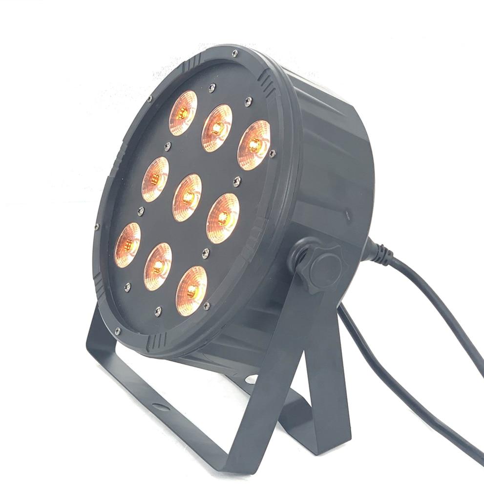 9x18W Led Par Light 6in1 RGBWA UV  Led Stage Light  LED Flat SlimPar Dj Lights Led Strobe Equipments Controller
