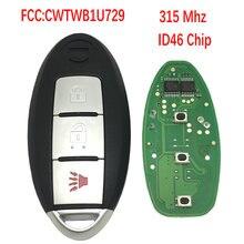 Datong World Car Remote Key For Nissan Tiida Qashqai Altima Maxima Sentra Teana Xtrail CWTWB1U729 CWTWB1U735 ID46 315Mhz Car Key