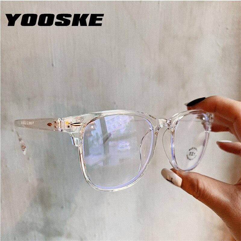 Gafas de protección contra luz azul YOOSKE 2020, marco de gafas para mujer, gafas de ordenador, gafas Vintage para hombre, marcos transparentes