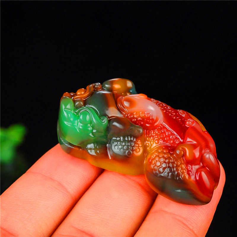 จีนสีหยกมังกรจี้ Jadeite สร้อยคอสร้อยคอสร้อยคอสร้อยคอสร้อยคอสร้อยคอสร้อยคอสร้อยคอสร้อยคอสร้อยข้อมืออัญมณีแฟชั่นอุปกรณ์เสริมมือแกะสลัก Amulet ของขวัญ + ฟรีเชือก