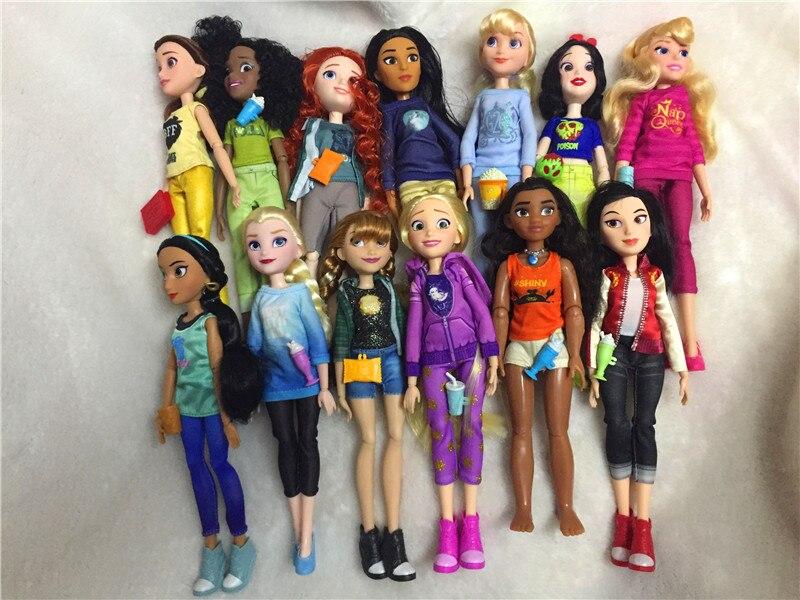 Rapunzel Dolls Jasmine Princess Doll Snow White Ariel Belle Rapunzel Toys For Girls Brinquedos Toys Bjd Dolls For Children Kids