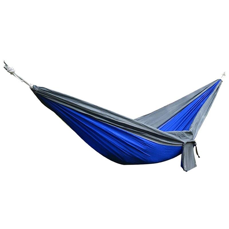 Fashion-Portable Ultra-light solid, durable 2 person parachute cloth hammock
