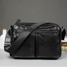 Leather Men Bag Casual Business Man Shoulder Crossbody bags Cowhide Large Capacity Travel Messenger