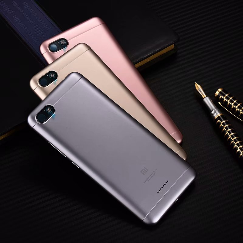 Redmi6A 100% Original Rear Housing Cover For Xiaomi Redmi 6A Plastic Back Door Repair Battery Case + Buttons Camera Glass