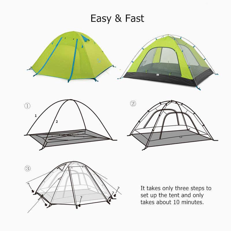 Naturehike ポータブル軽量耐候シェード 2 3 4 人のテントオールシーズンキャンプテントビーチテント屋外テントハイキングテント