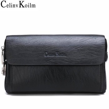 Celinv Koilm Luxury Brand  Men's Handbag Day Clutches Bags For Phone And Pen High Quality Spilt Leather Wallets Hand Bag Male