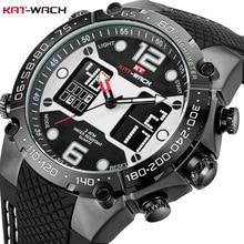 KAT-WACH Men's Electronic Watch Multifunction Fashion Electronic Watch Waterproof Silicon Quartz Watch Calendar Alarm Timing men watch timing machine multifunction timegrapher no 3000