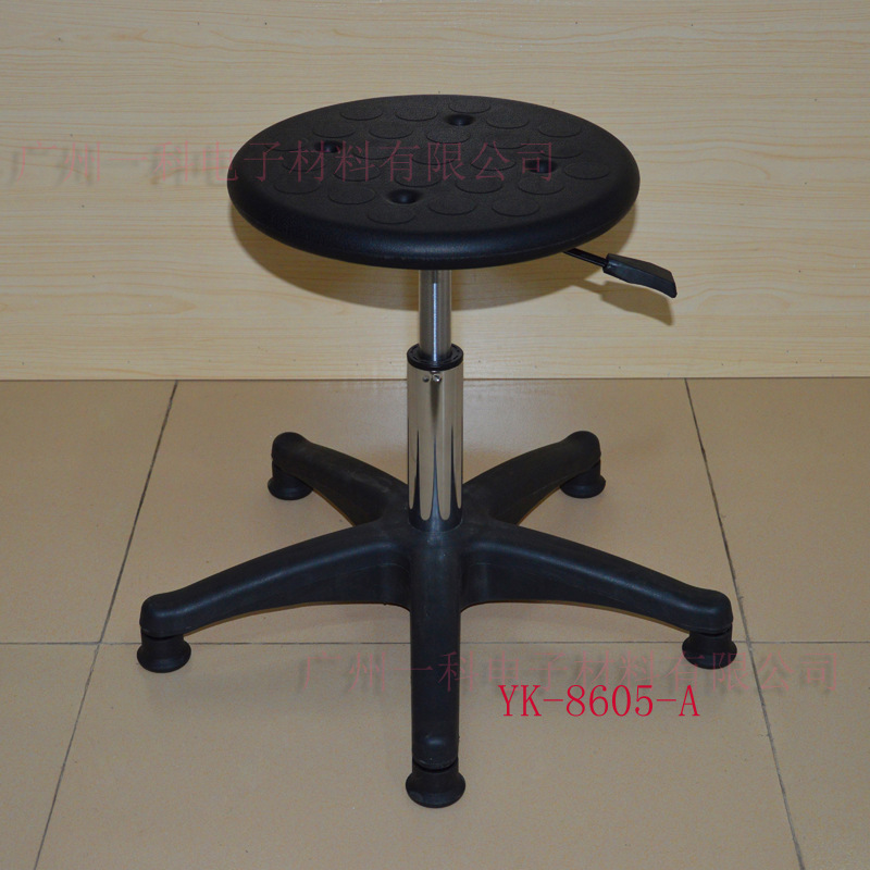 Manufacturers Supply Anti-static PU Foaming Height Adjustable Stool Chair Height Adjustable Round Stool Production Line Stool Cu