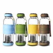 420ml My water jug Pumpkin Cover Glass Water Bottle With Tea