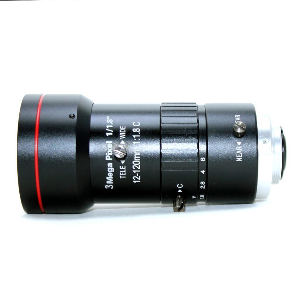 3,0 Megapixel 12 120mm HD CCTV objektiv F1.8 manuelle Iris Vario C mount objektiv Niedrigen Verzerrung FA objektiv für IP Kamera objektiv - 5