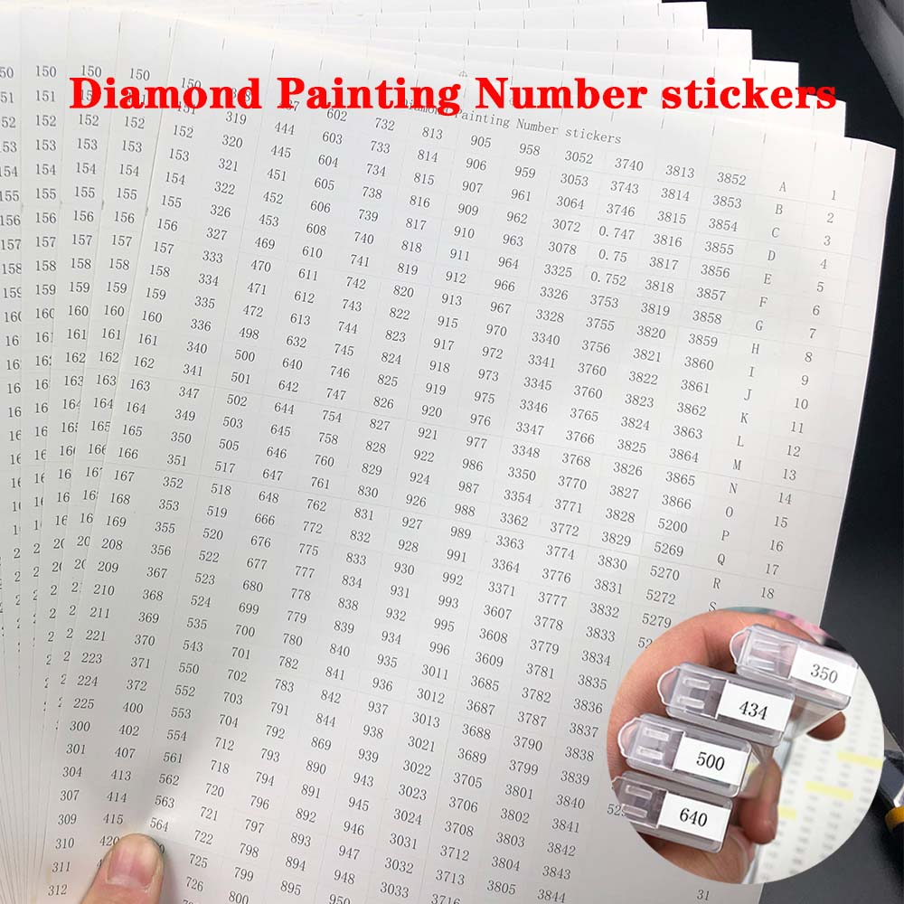 546 Grids Diamond Painting Tools Number Label Stickers For Diamond Painting Storage Box Accessory Tools A4 Size