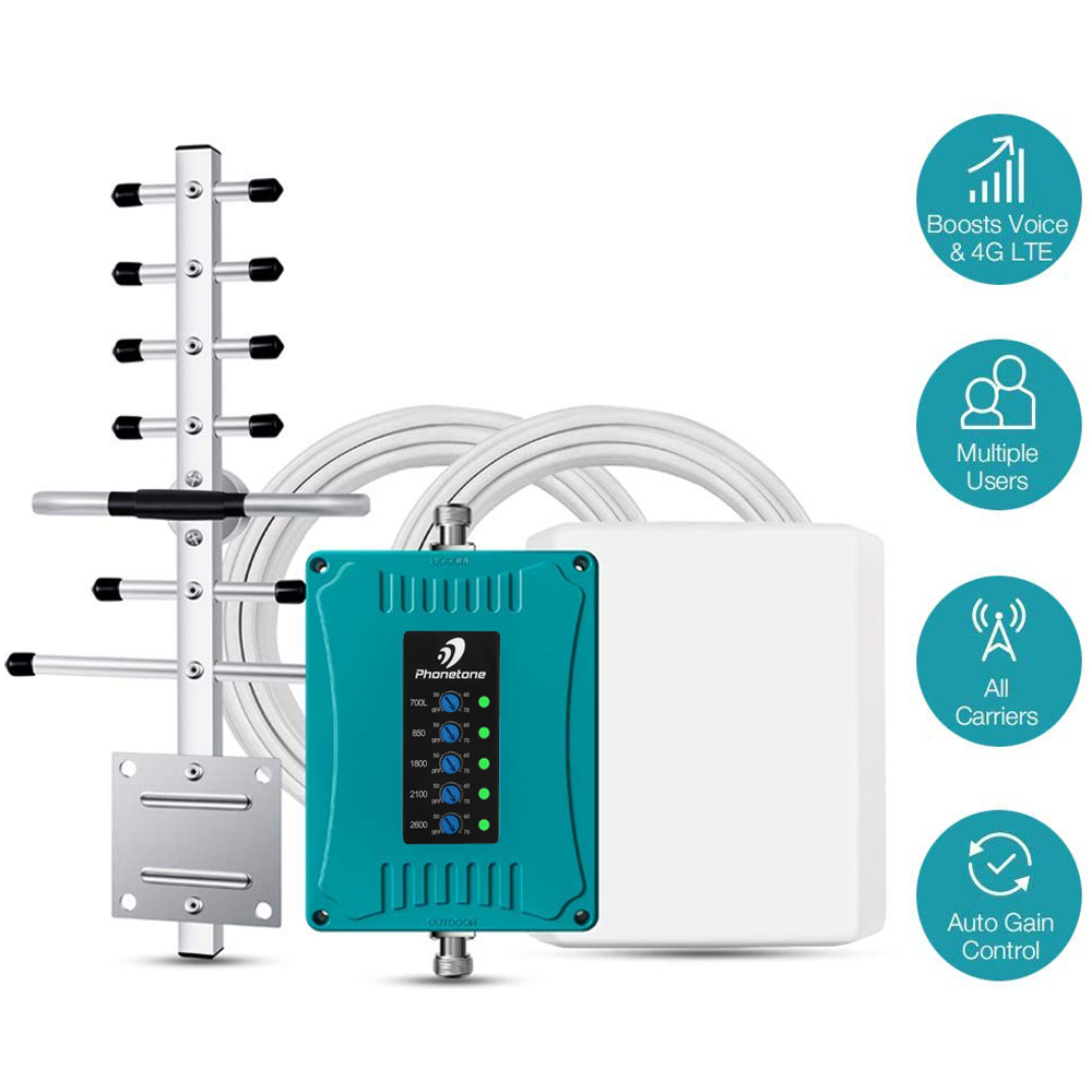 Telstra Mobile Cell Phone Signal Booster 2G 3G 4G LTE Amplifier 700/850/1800/2100/2600MHz Repeater Antenna Kit For Vodafone Use