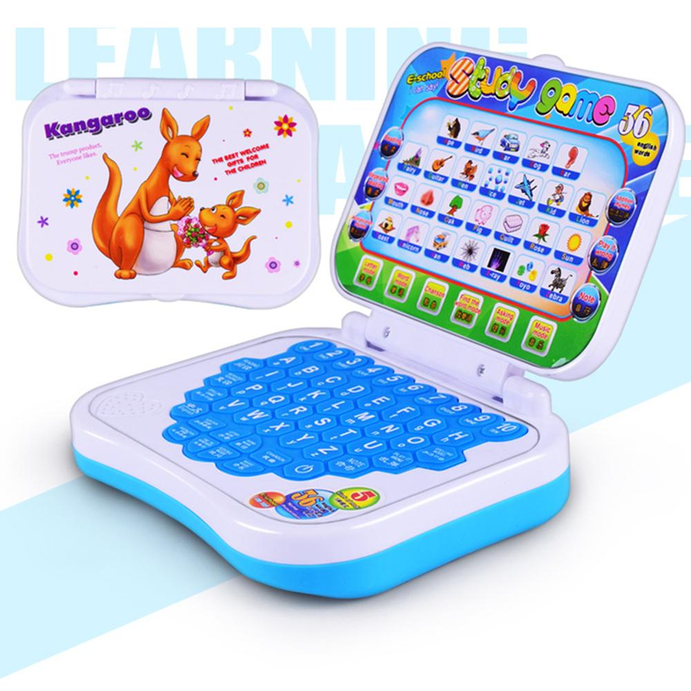 Baby Kids Learning Machine Kid Laptop Toy Early Interactive Machine Alphabet Pronunciation Educational Toys Gift for Children image