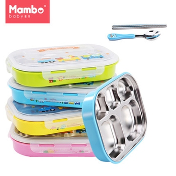304 Stainless Steel Japanese baby Feeding Bowl Lunch Box With Compartments Microwave Bento Box For Kids new japanese kids lunch box 304 stainless steel bento lunch box with compartment tableware microwave food container box 2020