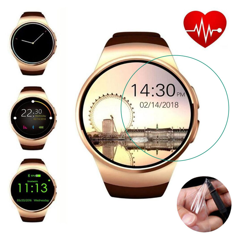 3pcs Soft Ultra Clear Protective Film Guard Protection For KW18 Smart Watch Smartwatch Display Screen Protector Cover(Not Glass)