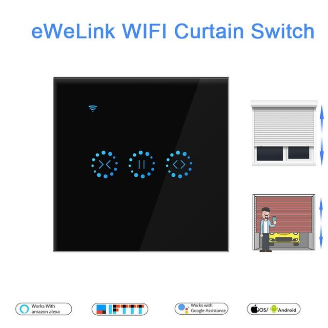 eWeLink EU US WiFi Curtain Blind Switch for Roller Shutter Electric motor Google Home Alexa Echo Voice Control DIY Smart Home