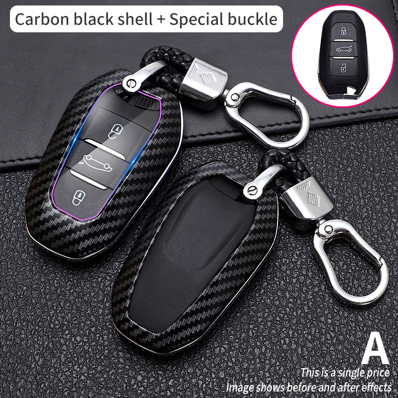 Shell Cover Holder Car Key Fob Case 5008 DS5 DS6 For Peugeot 208 DS3 For Citroen C4 C5 X7 C4L C6 C3-XR 3008 4008 Accessories