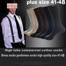 6ペア/ロット大サイズ男性綿ビジネス圧縮原宿靴下冬の紳士ソックスsokkenプラスサイズEU41 48