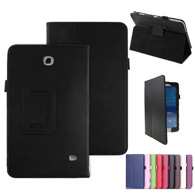 Чехол-книжка с подставкой для Samsung Galaxy Tab 4 8,0 дюйма, Магнитный смарт-чехол T331 из искусственной кожи с функцией автоматического сна для Samsung Tab 4...