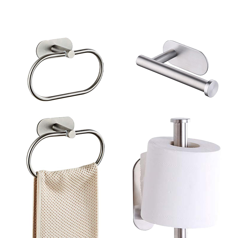 sin necesidad de taladrar Porta papel higi/énico autoadhesivo de aspiraci/ón se puede utilizar para toallas de papel en rollo de cocina // ba/ño // ba/ño porta toallas de papel en rollo