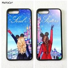 """MaiYaCa soul sisters две девушки BFF """"Лучшие друзья"""" силиконовые softe для мобильного телефона, чехлы для iPhone, 11 pro max 5S se 6s 7 8 plus XR XS MAX"""