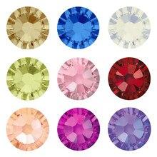 Yanruo 2058 cristais hotfix strass diy flatback artes e artesanato pedras de vidro quente fix strass na roupa