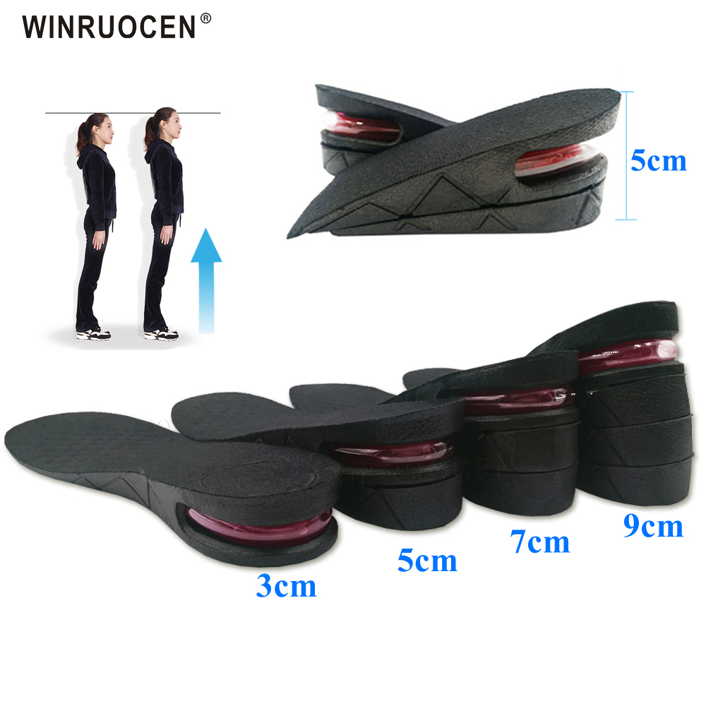 Стельки для увеличения высоты 3-9 см, регулируемые стельки для увеличения высоты, вставки для обуви на каблуке, увеличивающие рост стельки дл...