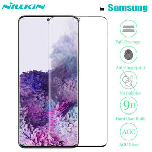 Nillkin 3D Full Coverage Tempered Glass for Samsung Galaxy S20 Ultra S20 S10 S9 S8 Plus Note 10 9 8 Plus Glass Screen Protector