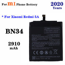 BN34 Phone Battery For Xiao Mi Redmi 5A Redrice 5A 2910mAh High Capacity Smartphone Replacement Battery