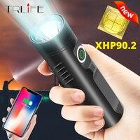TRLIFE poderosa linterna de luz LED recargable, P90.2 P50 L2 T6 táctico linterna construido en 3200mAh LED linterna para camping montar