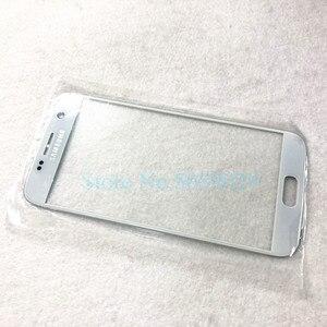 Image 3 - Yedek harici cam Samsung Galaxy S7 G930 S7 kenar G935 LCD ekran dokunmatik ekran ön dış cam Lens
