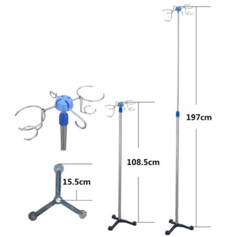 High-quality Stainless Steel Medical Infusion Stand Drip Bottle Rack, Infusion Hook Rails Hanging Rods With Lanterns