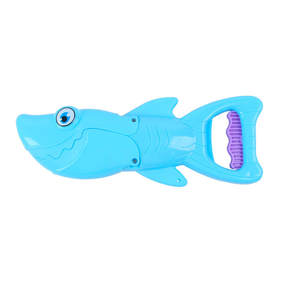 S-hark G-rabber Bath Toy For Boys And Girls Blue S-hark With Teeth For Kids